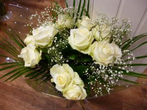 All Cream Roses Handtied Bouquet